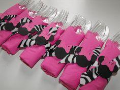 Minnie Mouse Napkin Rings 10 Birthday Napkin by BeesDieCutDesigns, $12.00