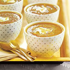 JERI'S *****  Butternut squash and Granny smith apples combine with a touch of pumpkin pie spice for an autumn-inspired soup that's good as a stand...
