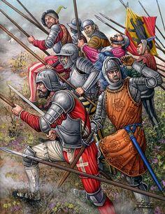 Piqueros suizos, década de 1530 - Ángel García Pinto. Más en www.elgrancapitan.org/foro