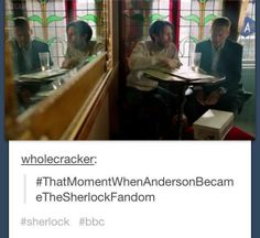 That moment when Anderson became the Sherlock fandom <-- When did Anderson become a non-idiot?