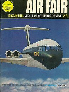 Biggin Hill Air Fair Souvenir Programme 1967 BOAC VC10 Concorde Andover RAF