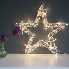 fairy light star wreath by the lovely light company | notonthehighstreet.com