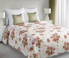Bielo-ružový prehoz Plant je dostupný v dvoch rozmeroch: 170x210 alebo 220x240 cm.