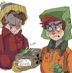 Cartman and Kyle hate eachother. Kyle South Park, Creek South Park, South Park Anime, South Park Fanart, Bane Of My Life, Kyle Broflovski, Eric Cartman, Tim Tam, Goin Down