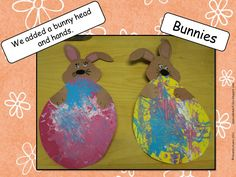 Marble painted Easter Bunnies.  Very easy to make.  http://aspecialkindofclass.blogspot.ca/2012/03/easter-bunnies.html