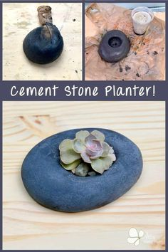 Make a DIY succulent planter that looks like a stone! Here's an easy tutorial, just using cement and a stocking to make this unique planter. Come read the step by step cement crafts tutorial. #artsyprettyplants #diyconcrete #diyplanter #planterideas #cementcrafts #succulentplanter Rock Planters, Diy Concrete Planters, Stone Planters, Diy Planters, Concrete Crafts, Concrete Projects, Concrete Art, Succulents In Containers, Succulents Diy