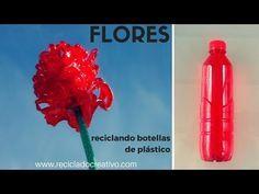 Flor de plástico realizada con botellas de plástico pet recicladas - How to make a plastic flower - YouTube
