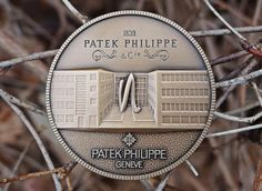 """The Patek Philippe Medallion is an extremely rare and very hard to find original Patek Philippe medal coin, issued in 1997 to commemorate 150th anniversary of Patek Phillippe // Patek Philippe Geneve commemorative medal coin unframed print. Price starts at $22 (Petite 7"""" x 10"""")."""