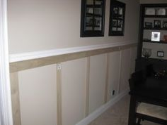 Faux Wainscoting - Before Photo                              …