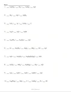 Worksheets Balancing Chemical Equations Worksheet 1 introduction to balancing chemical equations worksheet equation example