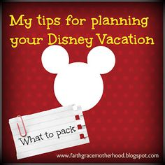 Tips for planning your Disney vacation: What to pack {free printable}