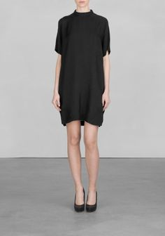 And Other Stories | High neck shirt dress | Black
