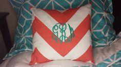 Chevron Monogrammed Pillowcase- Dorm Decor, Baby Decor, Home Decor $24