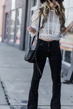 73caee22f4d0 How to Style Flared Jeans for Spring