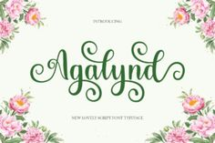 Agalynd is a romantic and sweet calligraphy typeface with characters that dance along the baseline. It will add a luxury... Handwritten Fonts, Calligraphy Fonts, Modern Calligraphy, Free Fonts For Cricut, Cricut Fonts, Open Fonts, Commercial Use Fonts, Modern Script Font, Beautiful Fonts