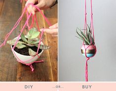 DIY or Buy: plant hangers