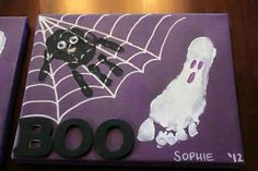 Good idea for kids Halloween decoration and a way to track their growth over the years.