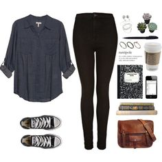 New name by jocelynj17 on Polyvore featuring moda, Joie, Topshop, Converse, Orelia and POL