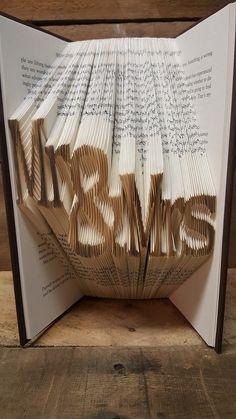 Folded Book Art Home Decor Believe Unique Present