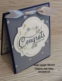 Jan Girl: Stampin' Up Your Perfect Day Wedding card and gift Tag