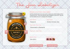 The Jam Labelizer: Design and Print Your Own Jam Labels for Free!