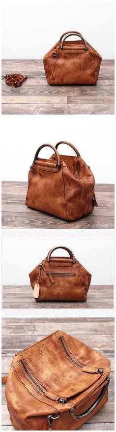237d29cdc6f Handmade Full Grain Leather Messenger Bag Women Shoulder Bag Satchel Bag  WF52