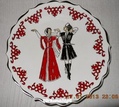 China Plates, Decorative Plates, Porcelain, Hand Painted, Dance, Traditional, Painting, Happy, Modern
