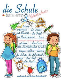 Schule Deutsch Wortschatz Grammatik Alemán German DAF Vocabulario