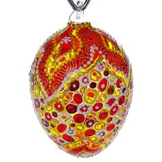 April Hand Blown Glass Easter Egg Ornament. by HolidayGiftShops on Etsy https://www.etsy.com/listing/231371373/april-hand-blown-glass-easter-egg