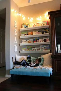 i love the idea of a reading space for my kids reading is so good for a child and i hope to instill my love of reading in my child casa kids good