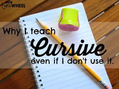 The value of teaching cursive & a fun freebie to engage learners.