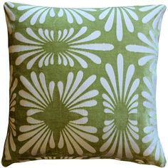Red Barrel Studio A subtle daisy pattern appears embossed on this tone on a tone throw pillow. This Velvet throw pillow will work well in the range of settings, lending itself to both formal and casual living spaces. Coral Pillows, Green Throw Pillows, Throw Pillow Sets, Outdoor Throw Pillows, Pillow Covers, Daisy Pattern, Green Velvet, White Fabrics, Decorative Pillows
