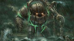 nautilus en la lluvia - League of Legends