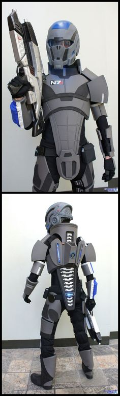 Steven Massey as Commander Shepherd from Mass Effect #cosplay