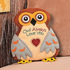 """Owl Always Love You"" Pillow - OrientalTrading.com"