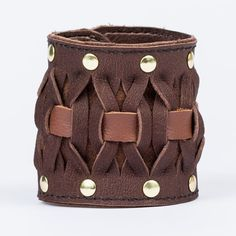 Picture of Simple Woven Leather Bracelet (With Improved Version Expansion)