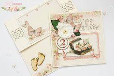 handmadebysheley / Detská vintage pohľadnica s obálkou