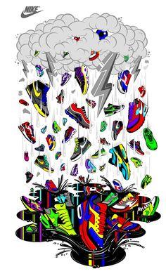 Nike T-shirts Projects / Footlocker on Behance. Thats Gunna dent ya ride. Nike Wallpaper Iphone, Graffiti Wallpaper Iphone, Supreme Iphone Wallpaper, Crazy Wallpaper, Hype Wallpaper, Cartoon Wallpaper, Jordan Shoes Wallpaper, Sneakers Wallpaper, Cool Nike Wallpapers