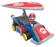 K'Nex Mario Glider Kart Building Set - [gallery] Build Mario in his Glider Kart from Mario Kart 7. Includes a buildable Mario figure, a super leaf item, plus a pull-back motor and parts to build his Glider Kart, just like in the game. Collect them all and race your friends. The package can be re-used as a ramp for even more after-building fun. Plus, all Mario Kart 7 kart bodies work with K'NEX Mario Kart Wii pull-back and battery-powered motors. Suitable for ages 6 years + Sa