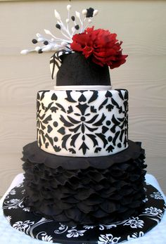 - This cake was made for an elegant black tie gala event. The cake is chocolate mocha and the icing is a bitter sweet chocolate buttercream.