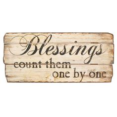 Blessings Wall Sign. Not sure I can count that high!