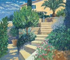 How to paint gardens