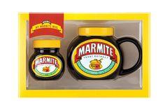 Marmite Mug Gift Set Marmite Gifts, Yeast Extract, Birthdays, Jar, Shapes, Mugs, Anniversaries, Tumblers, Birthday