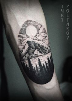 These arm mountain tattoo designs are each unique in its own way. Even when it's the same subject, it still looks fairly different with each one.