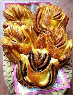 Recipes, bakery, everything related to cooking. Cake Recipes, Snack Recipes, Cooking Recipes, Bread Shaping, Bread Art, Braided Bread, French Bakery, Bread And Pastries, Danish Pastries