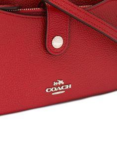 7607875fbaf Amazon.com: COACH Pebble Pop-up Color Red Currant Crossbody Wristlet 53529:  Shoes
