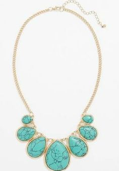 turquoise statement necklace - Google Search
