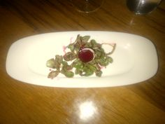 Oven baked beet and goat cheese cream with fresh herbs and purslane salad @ Restaurant SekizIstanbul