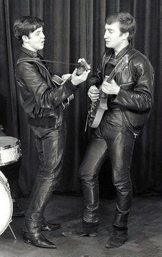 Paul McCartney and John Lennon about 1961.