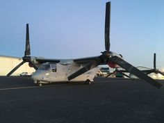 Two Bell-Boeing V-22 Ospreys at AVL!
